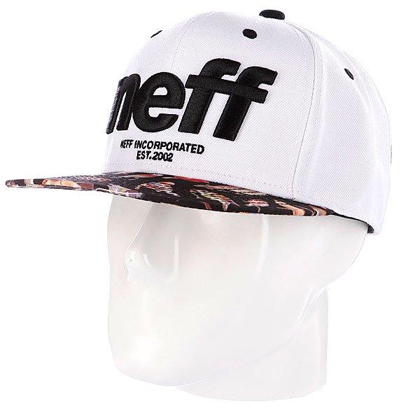 Бейсболка Neff Hardr White<br><br>Цвет: белый,черный<br>Тип: Бейсболка с прямым козырьком<br>Возраст: Взрослый<br>Пол: Мужской