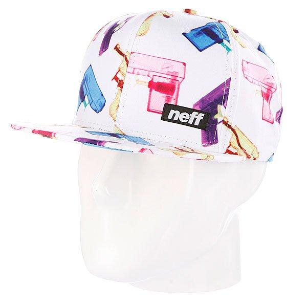 Бейсболка Neff P-Shooter White<br><br>Цвет: белый<br>Тип: Бейсболка с прямым козырьком<br>Возраст: Взрослый<br>Пол: Мужской