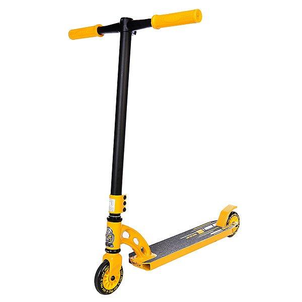 Самокат MGP Vx4 Pro Yellow/BlackДека: MGP VX4 Fluted ширина 4 (10,16см), вес 1.29 кг., интегрированная,&amp;nbsp;3mm ConcaveРуль: 18 x 22 (45.7см x 55.9см) One Piece Fluted Chromoly Y4Вилка: HIC ThreadlessКолеса: 110mm Aero Alloy CoreТормоз: Composite Blitz BrakeГрипсы:&amp;nbsp;Madd Gear TPR Grind gripsХомут: MGP трехболтовыйПодшипники: MGP K-1Рулевая:&amp;nbsp;Integrated FSA HeadsetВес: 3,72 кг.<br><br>Цвет: желтый,черный<br>Тип: Самокат трюковой