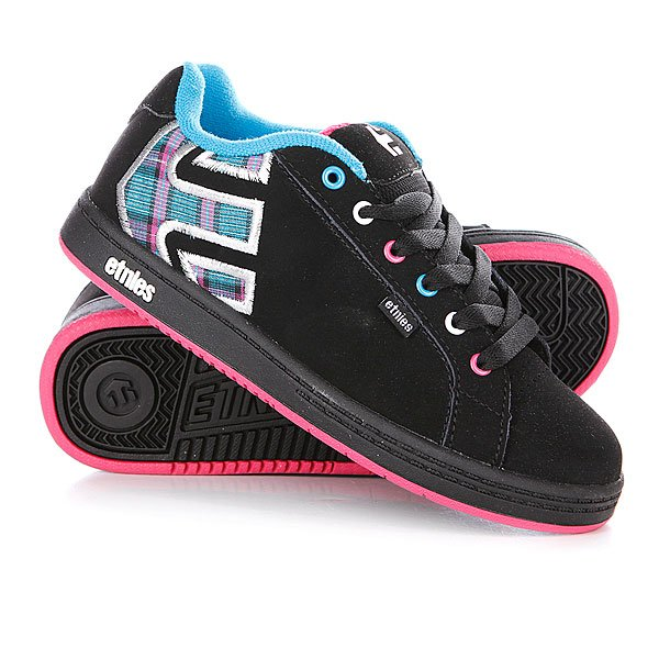 Кеды кроссовки детские Etnies Sample Kids Fader Black/Blue/Pink Proskater.ru 1639.000
