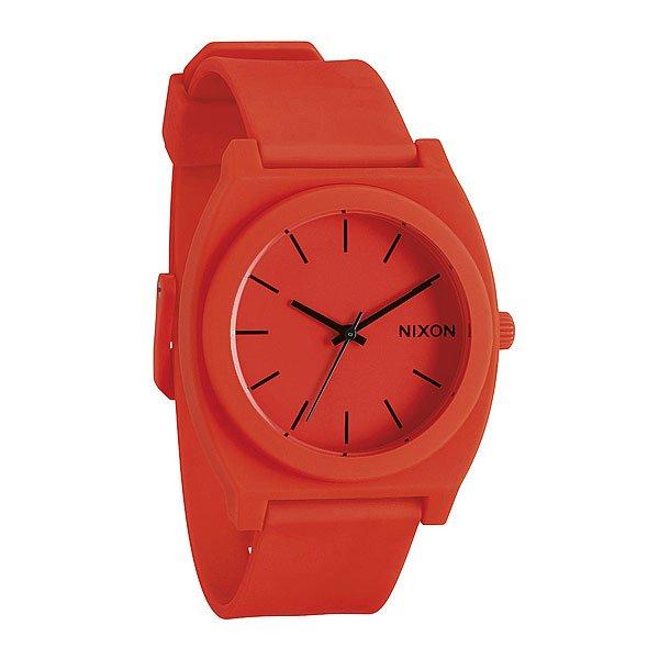 Часы Nixon Time Teller P Neon Orange nixon time teller p whiteblue