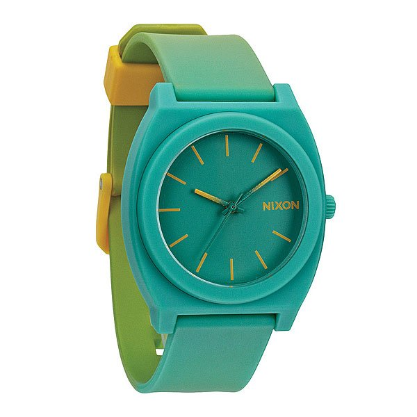 Часы Nixon Time Teller P Yellow/Teal Fade