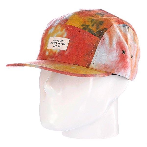 Бейсболка пятипанелька Globe Stern 5 Panel Red<br><br>Цвет: желтый,красный<br>Тип: Бейсболка пятипанелька<br>Возраст: Взрослый<br>Пол: Мужской