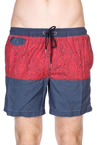 Шорты пляжные Globe Palme Poolshort Navy<br><br>Цвет: синий,красный<br>Тип: Шорты пляжные<br>Возраст: Взрослый<br>Пол: Мужской