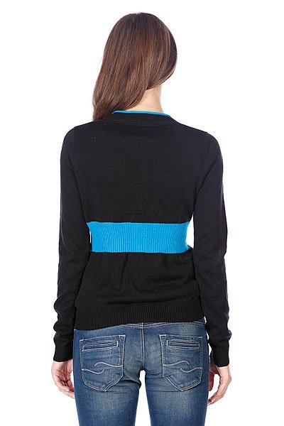 Черный Пуловер Женский