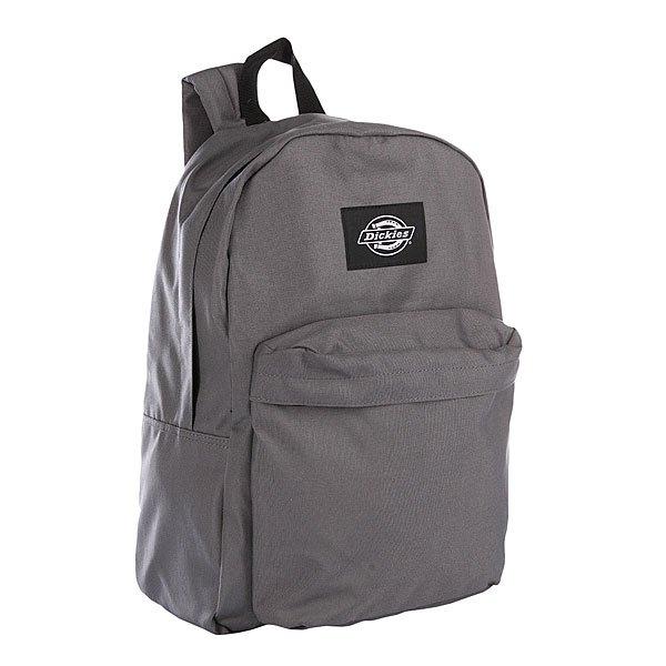 Рюкзак городской Dickies Indianapolis Charcoal BlackВместительный рюкзак для ежедневных прогулок.Характеристики:  Большое основное отделение на молнии с верхним доступом.  Мягкие регулируемые лямки. Защитная уплотненная задняя панель. Ручка для переноски в руках. Лицевой карман на молнии.<br><br>Цвет: серый<br>Тип: Рюкзак городской<br>Возраст: Взрослый