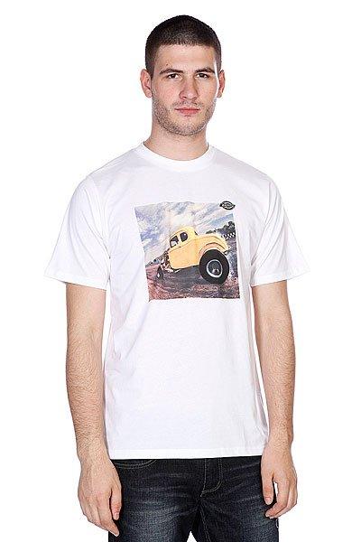 Футболка Dickies Hot Rod Racer White<br><br>Цвет: белый<br>Тип: Футболка<br>Возраст: Взрослый<br>Пол: Мужской