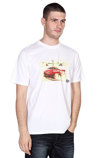 Футболка Dickies Hot Rod Racer Classic White<br><br>Цвет: белый<br>Тип: Футболка<br>Возраст: Взрослый<br>Пол: Мужской