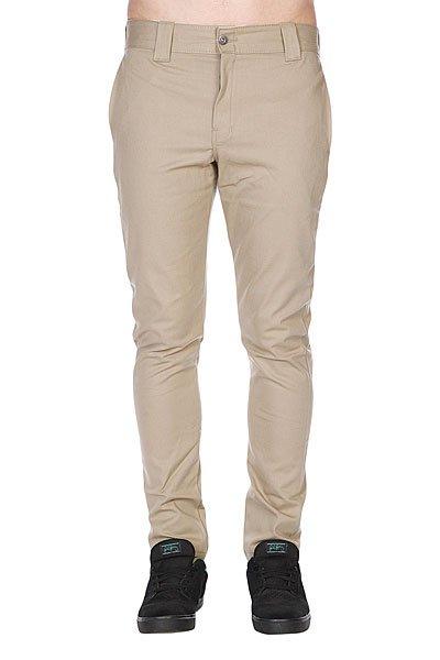 Штаны Dickies Slim Skinny Work Pant British Tan<br><br>Цвет: бежевый<br>Тип: Штаны узкие<br>Возраст: Взрослый<br>Пол: Мужской