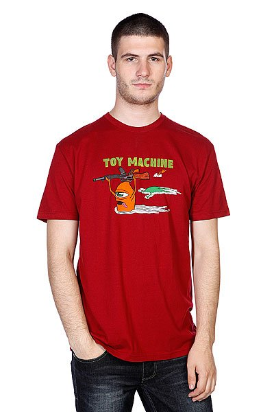 Футболка Toy Machine Blood River Cardinal футболка toy machine blood river navy heather