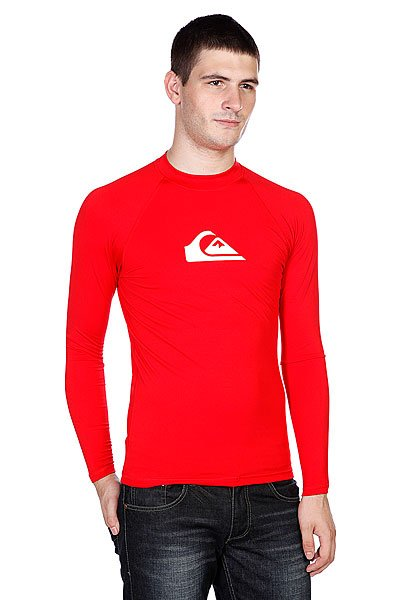 Лонгслив Quiksilver All Time Ls Raglan Mid Neck Uni Red