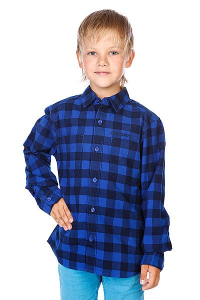 Рубашка в клетку детская Quiksilver Enderby Youth Cobalt Proskater.ru 2280.000