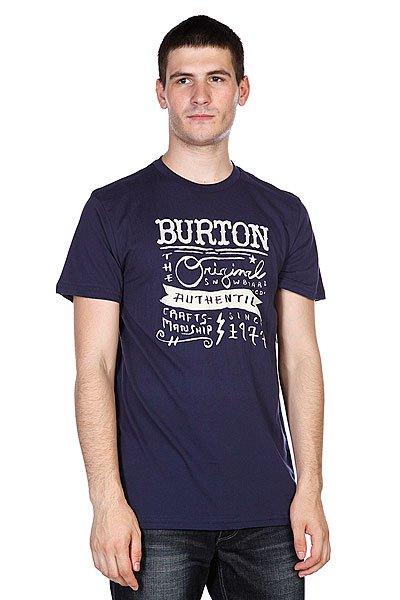 Футболка Burton Workwear Slim Night Rider<br><br>Цвет: синий<br>Тип: Футболка<br>Возраст: Взрослый<br>Пол: Мужской