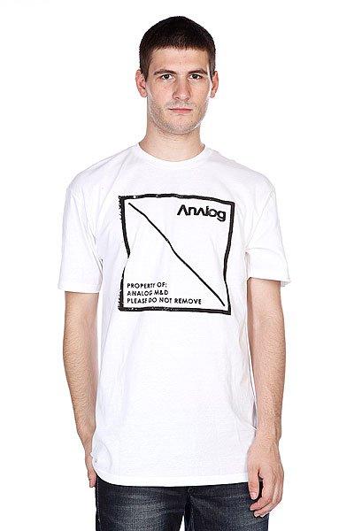 Футболка Analog Ag Property Ss White<br><br>Цвет: белый<br>Тип: Футболка<br>Возраст: Взрослый<br>Пол: Мужской