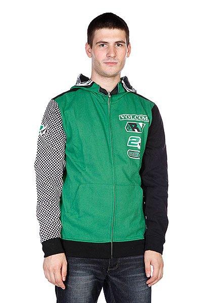 Толстовка Volcom Villopoto Full Zip Fleece Green
