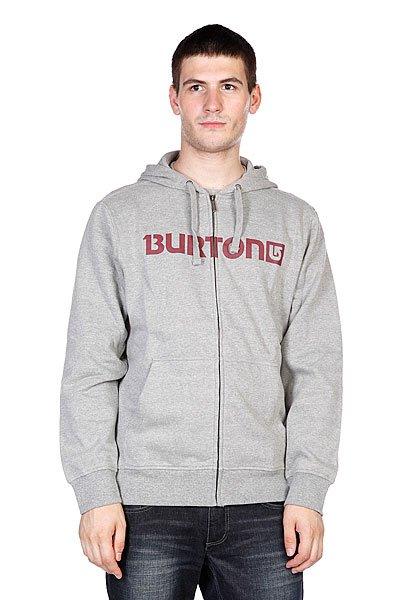 Толстовка Burton Mns Logo Horz Fz Heather Grey<br><br>Цвет: серый<br>Тип: Толстовка классическая<br>Возраст: Взрослый<br>Пол: Мужской