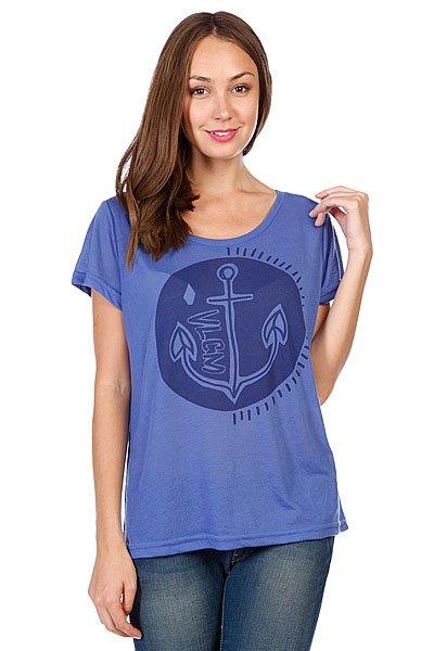 Футболка женская Volcom Happy Abchor Ss Bright Blue<br><br>Цвет: синий<br>Тип: Футболка<br>Возраст: Взрослый<br>Пол: Женский