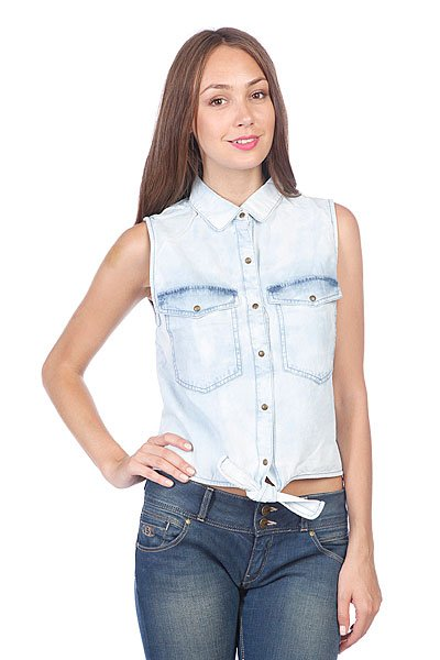 Топ женский Volcom Sick Muse Sleeveless Shirt Chambray