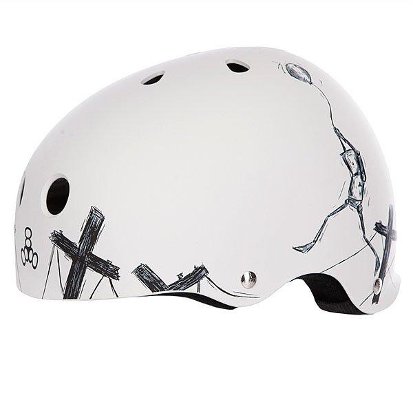 Шлем для скейтборда Triple Eight Balloon Robot White Proskater.ru 2500.000