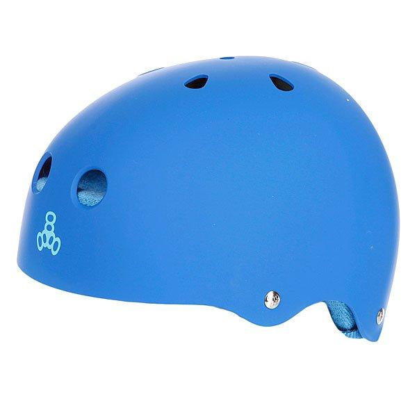Шлем для скейтборда Triple Eight Brainsaver Royal Rubber W/Blue Proskater.ru 2430.000