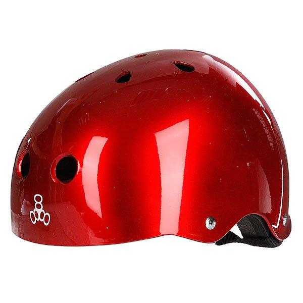 Шлем для скейтборда Triple Eight Brainsaver Red Metallic Proskater.ru 1950.000