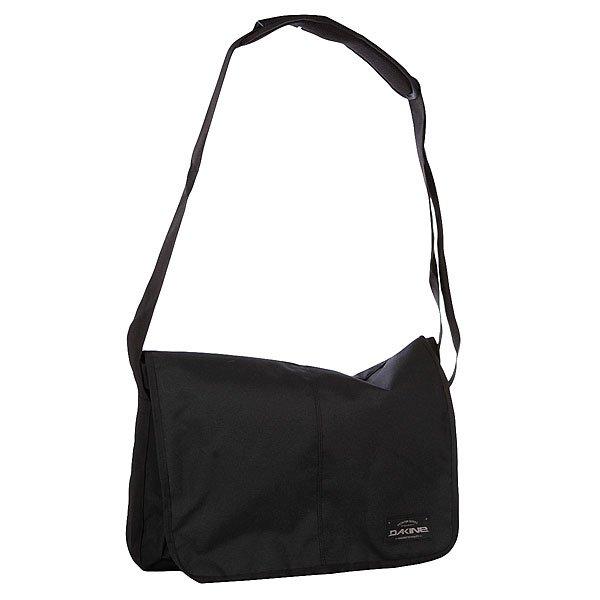 Сумка Dakine Mainline 20l BlackТехнические характеристики: Верх из 100% полиэстера. Внутренняя подкладка из тафты. Застежка – молния. Дополнительная защитная панель с застежкой на липучке. Фиксированная регулируемая широкая ручка для ношения сумки через плечо.  Форм-фактор – сумка-портфель (Messenger Bag).<br><br>Цвет: черный<br>Тип: Сумка<br>Возраст: Взрослый<br>Пол: Мужской