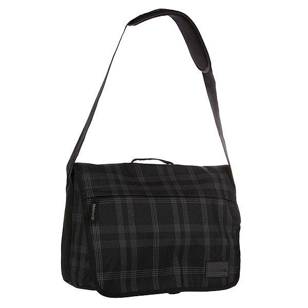 Сумка Dakine Hudson 20l NorthwestТехнические характеристики: Верх из 100% полиэстера. Внутренняя подкладка из тафты. Застежка – молния. Дополнительная защитная панель с застежкой на липучке. Фиксированная регулируемая широкая ручка с накладкой против скольжения для ношения сумки через плечо.  Форм-фактор – сумка-портфель (Messenger Bag).<br><br>Цвет: серый,черный<br>Тип: Сумка через плечо<br>Возраст: Взрослый<br>Пол: Мужской