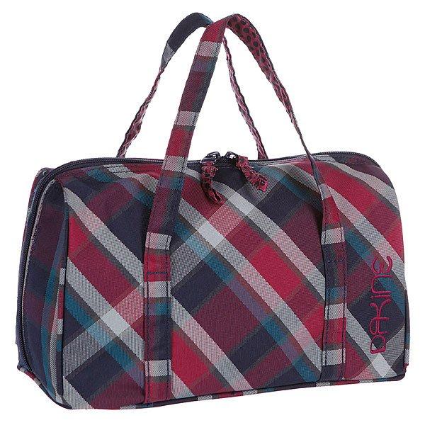 Косметичка женская Dakine Prima Vivienne PlaidКосметичка – необходимая принадлежность в сумке каждой девушки, а в путешествии – это просто необходимы аксессуар, который необходимо иметь при себе.Характеристики:Основное отделение на двусторонней молнии.Две тонкие ручки. Внутренние карманы для мелочей. Форм-фактор – косметичка (cosmetics bag).<br><br>Цвет: черный,фиолетовый<br>Тип: Косметичка<br>Возраст: Взрослый<br>Пол: Женский
