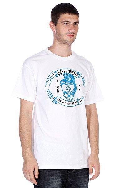 Футболка Independent Lpr Skull White<br><br>Цвет: белый<br>Тип: Футболка<br>Возраст: Взрослый<br>Пол: Мужской