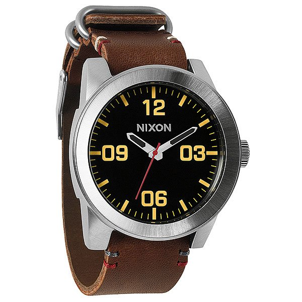 Часы Nixon Corporal Black/Brown