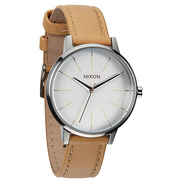 Часы женские Nixon Kensington Leather Natural/Silver