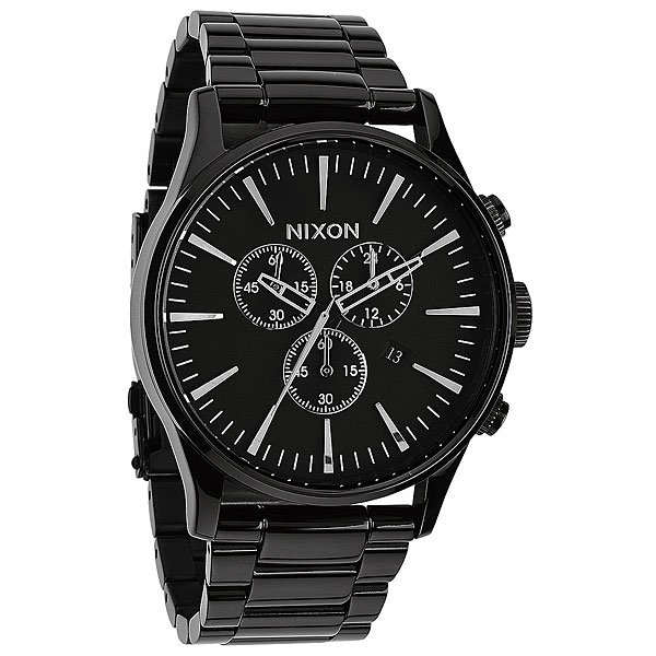 Часы Nixon Sentry Chrono All Black кварцевые часы nixon sentry chrono black multi