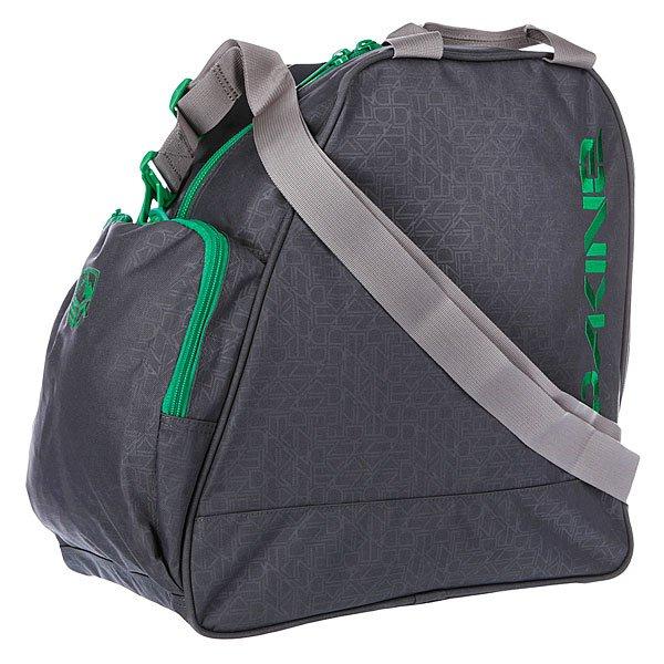 Рюкзак Dakine Boot Bag 30l HoodСумка для ботинок Dakine Boot Bag - это сумка для переноски и хранения ботинок для сноуборда, роликов или коньков. Переносить можно за ручки сверху или на плече, за съёмную лямку.Характеристики:  Большое основное отделение на молнии. Две ручки  для переноски в руках.  Съемная регулируемая ручка для переноски сумки через плечо. Передний накладной карман. Может использоваться для хранения перчаток, шапки и прочих мелочей (ключей, кошелька).<br><br>Цвет: черный<br>Тип: Сумка для обуви<br>Возраст: Взрослый<br>Пол: Мужской