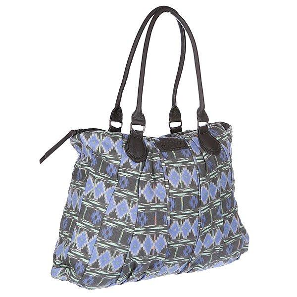 Сумка женская Dakine Mallory 20l MeridianТехнические характеристики:  Верх из хлопка.  Внутренняя подкладка из текстиля. Застежка – молния.  Потайной карман на молнии.  Две тонкие ручки для ношения сумки через плечо.  Форм-фактор – плечевая сумка (shoulder bag).<br><br>Цвет: серый,голубой<br>Тип: Сумка<br>Возраст: Взрослый<br>Пол: Женский