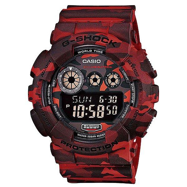 Часы Casio G-shock Gd-120Cm-4EАвтоматическая светодиодная подсветка. Срок службы батареи 7 лет.  Ударопрочная конструкция защищает от ударов и вибрации.  Секундомер, время измерения 100 ч. с точностью в 1/1000 секунды. Таймер с функцией автоповтора, время измерения 24 ч., с шагом 1 с.  Будильник с 5-ю установками, с функцией автоповтора. Ежечасный сигнал. Включение/выключение звука кнопок.  Формат времени 12/24. Полностью автоматический календарь, учитываются месяцы разной продолжительности и високосные годы.  Жесткое минеральное стекло, устойчивое к царапанию.  Ремешок из полимерного материала.  Водонепроницаемость 20 атм. WR 200  Размер корпуса 55 x 51,2 x 17,4 мм<br><br>Тип: Электронные часы<br>Возраст: Взрослый<br>Пол: Мужской