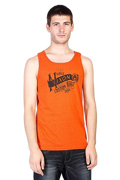 Майка Nixon Wind Up Mock Twist Tank Orange свитшот print bar joker