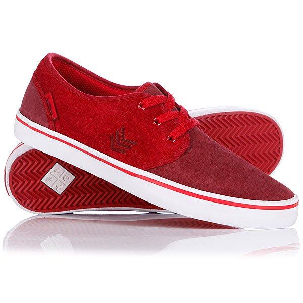 Кеды кроссовки низкие VOX Slacker Burg/Red/White
