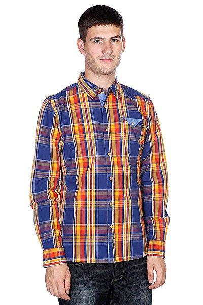 Рубашка в клетку Picture Organic Po Duck Orange<br><br>Цвет: оранжевый,синий<br>Тип: Рубашка в клетку<br>Возраст: Взрослый<br>Пол: Мужской