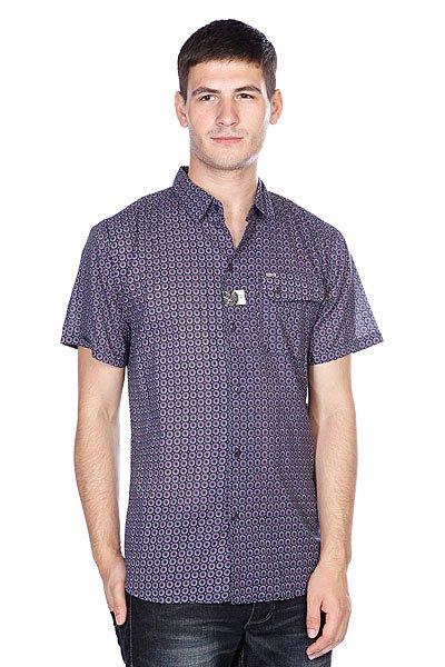 Рубашка Globe Vanguard Shirt Vint Black<br><br>Цвет: фиолетовый,черный<br>Тип: Рубашка<br>Возраст: Взрослый<br>Пол: Мужской