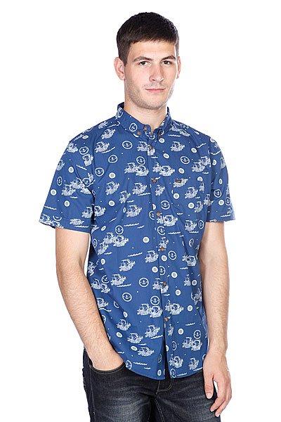 Рубашка Globe Mutany Shirt Indigo<br><br>Цвет: синий<br>Тип: Рубашка<br>Возраст: Взрослый<br>Пол: Мужской