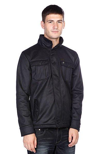 Куртка Globe Matheson Jacket BlackТехнические характеристики: Верх из 100% полиэстера. Внутренняя подкладка из тафты.  Без внутреннего утепления (осень/весна).   Застежка – молния + пуговицы по всей длине.  Два боковых прорезных кармана для рук.  Фасон: стандартный (regular fit).<br><br>Цвет: черный<br>Тип: Куртка<br>Возраст: Взрослый<br>Пол: Мужской