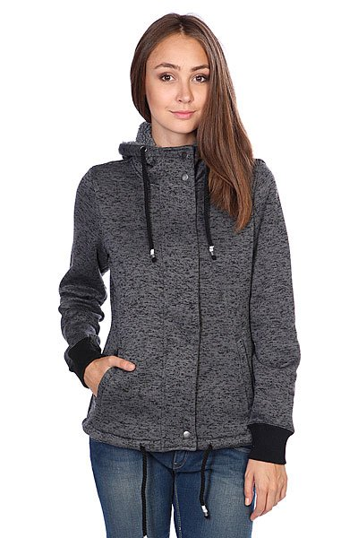 Толстовка утепленная женская Rip Curl Polar Fleece Solid Black