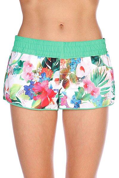 Шорты пляжные женские Rip Curl Kauai Island Boardshort Optical WhiteДанная модель не имеет внутренней подкладки в виде сеточки<br><br>Цвет: белый,зеленый<br>Тип: Шорты пляжные<br>Возраст: Взрослый<br>Пол: Женский