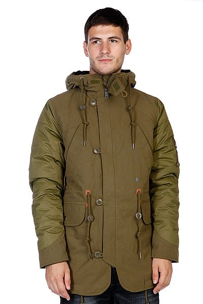 Куртка зимняя Volcom Parkanoid Parka New Blackboard Green