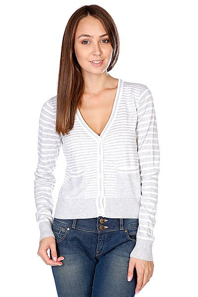 Свитер женский Zoo York Sophi Cardi Lt. Heather Grey