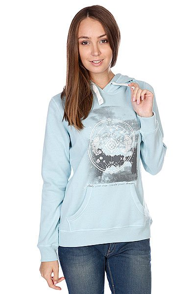 Толстовка женская Roxy Relax Mix A Cloud Blue Proskater.ru 3390.000