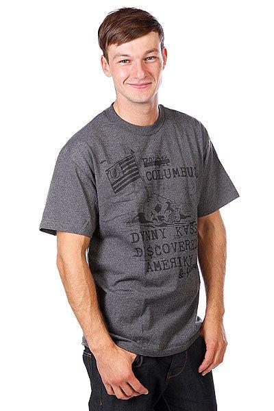 Футболка Grenade Dk America Charcoal/Heather<br><br>Цвет: серый<br>Тип: Футболка<br>Возраст: Взрослый<br>Пол: Мужской
