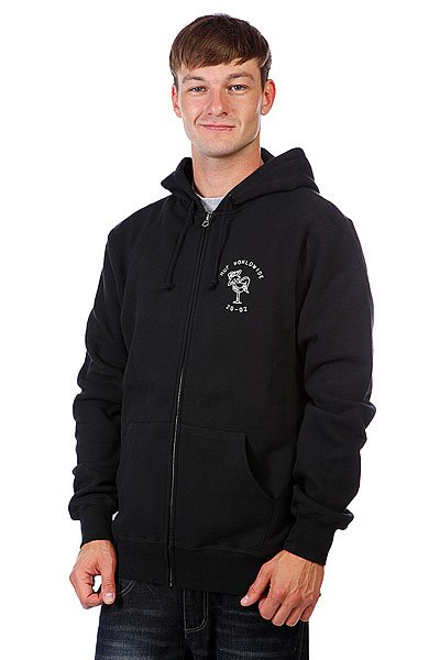 Толстовка Huf (Black) Wartini Zip Hood Black