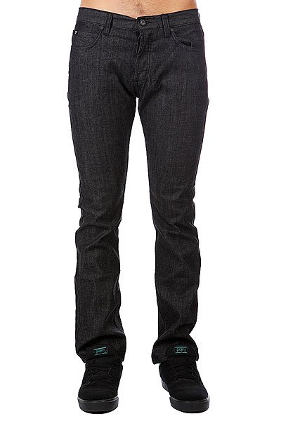 Джинсы прямые Fallen Straight Fit Jean Raw Black collins school atlas