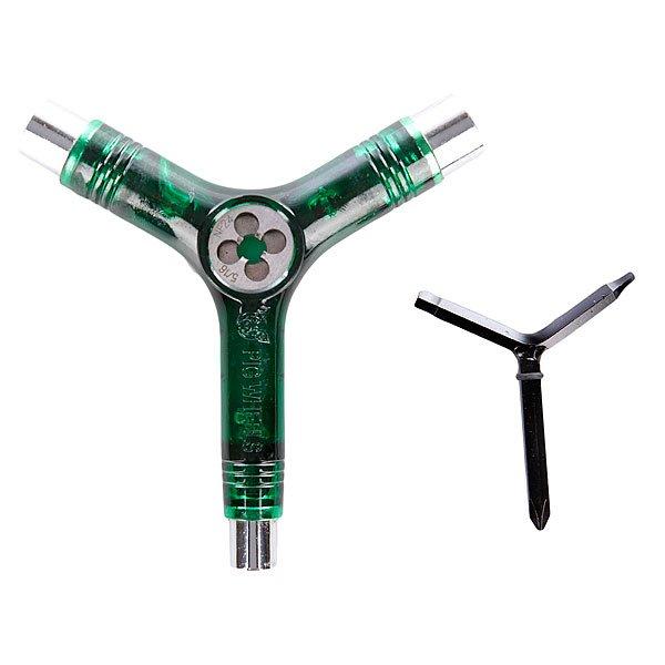 Ключ для скейтборда Pig Tool Clear Green<br><br>Цвет: зеленый<br>Тип: Ключ для скейтборда